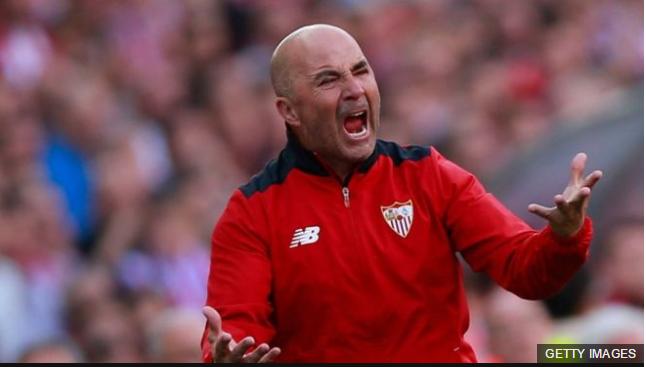 Jorge Sampaoli frente al Sevilla logró ubicar al equipo español en la cuarta posición de la Liga Española.