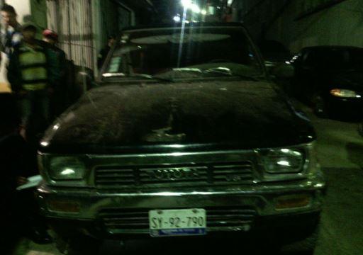 Sales Jerónimo conducía un picop con placas mexicanas SY-92-790 del estado de Querétaro (Foto PNC)