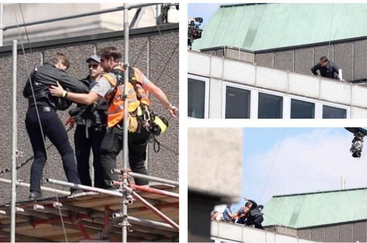 Tom Cruise resultó herido durante la grabación del filme Misión Imposible 6. (Foto Prensa Libre: TMZ)