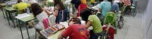 Niños migrantes en clases.