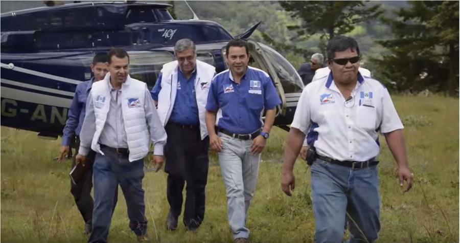 Jimmy Morales durante la campaña electoral en la que ganó la presidencia con el partido FCN-Nación. (Foto HemerotecaPL)