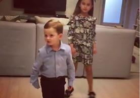 """Los pequeños de seis y tres años de edad pasaron un buen rato con """"Despacito"""" (Foto Prensa Libre: Instagram)."""