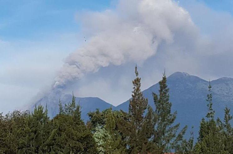 Esta es la sexta erupción del Volcán de Fuego en 2017.