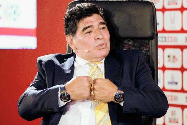 El ex futbolista argentino, Diego Maradona continúa con las críticas a la Fifa. (Foto Prensa Libre: Hemeroteca PL)