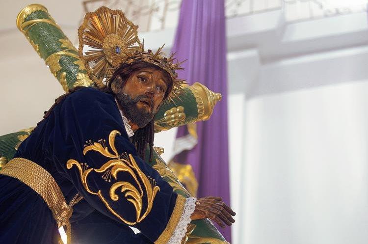 Imagen de Jesús Nazareno del Rescate de la Iglesia de Santa Teresa. (Foto Prensa Libre: Oscar Rivas)