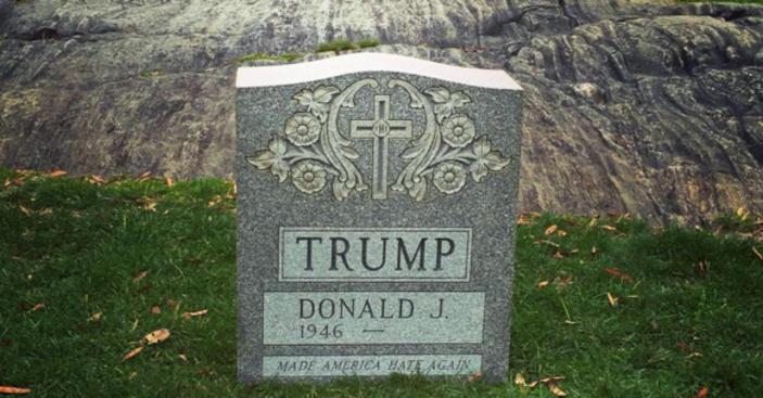 <span>Un estadounidense ofendido por</span> <span>la campaña de</span> <span>Donald</span> <span>Trump</span> <span>entierra</span> <span>simbólicamente</span> <span>sus</span> <span>aspiraciones</span><span>.</span>