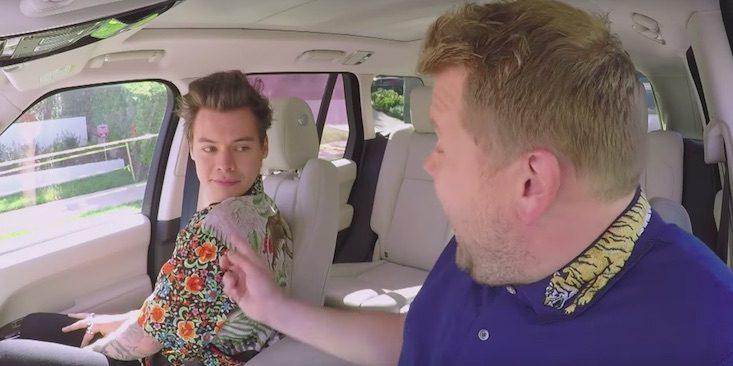 El exmiembro de One Direction Harry Styles es el invitado especial del programa del británico James Corden.