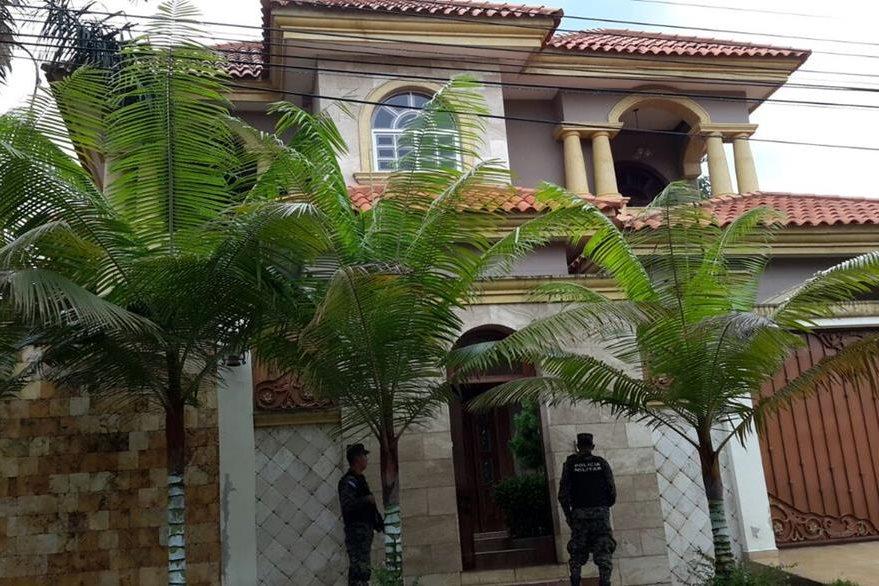 Panorámica de una de las viviendas registradas a nombre de pandilleros de Honduras.  (Foto Twitter/@MP_Honduras).