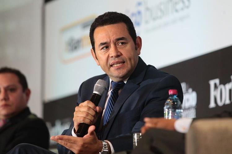 El presidente Jimmy Morales visitará en los proximos días Honduras, Ecuador, Estados Unidos y Francia. (Foto Prensa Libre: Hemeroteca PL)