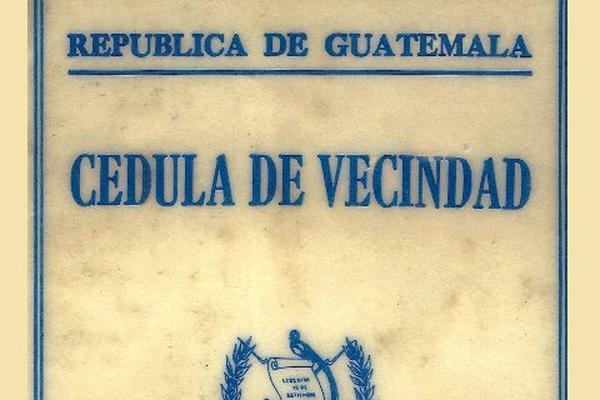"""<p>La cédula de vecindad dejará de utilizarse. (Foto Prensa Libre: Archivo)<br _mce_bogus=""""1""""></p>"""