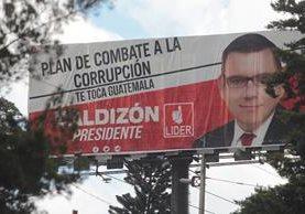 Propaganda electoral de Manuel Baldizón, presidenciable de Líder. (Foto Prensa Libre: Hemeroteca PL)