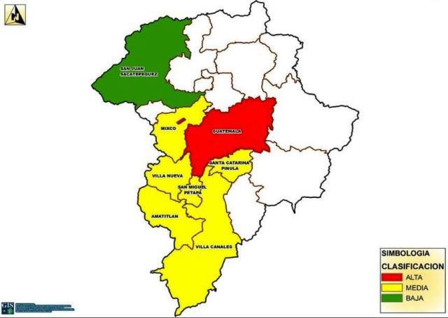 Municipios del departamento de Guatemala donde será prioridad la seguridad ciudadana. (Foto Prensa Libre: Ministerio de Gobernación)