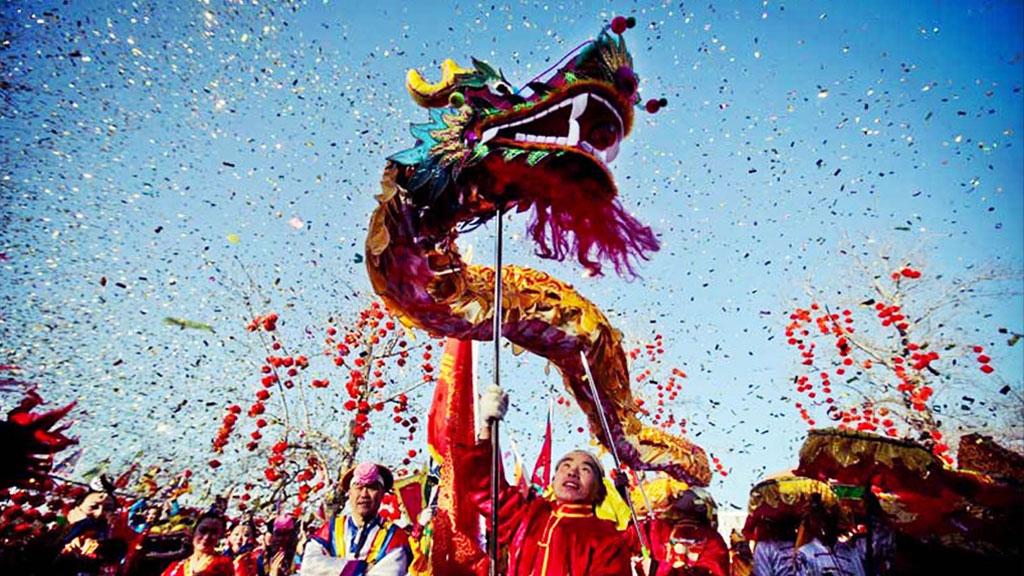 Celebración de Año Nuevo en China.