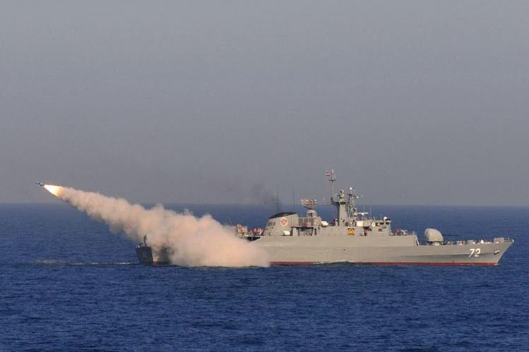 La Guardia Revolucionaria iraní realizó pruebas de misiles balísticos.