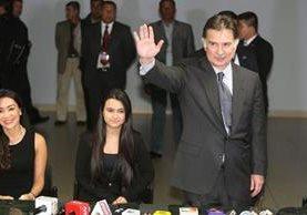 El expresidente Portillo, el 25 de febrero recién pasado, cuando regresó de EE.UU. (Foto: Hemeroteca PL)