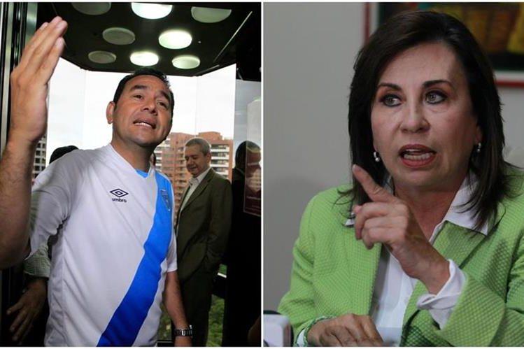 Jimmy Morales de FCN-Nación y Sandra Torres del partido UNE, disputaran la presidencia en el balotaje del 25 de octubre. (Foto Prensa Libre: Hemeroteca PL)