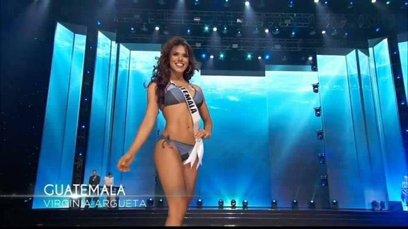 Virginia Argueta en traje de baño. (Foto Prensa Libre: Tomada de facebook.com/OfficialMissGuatemala)