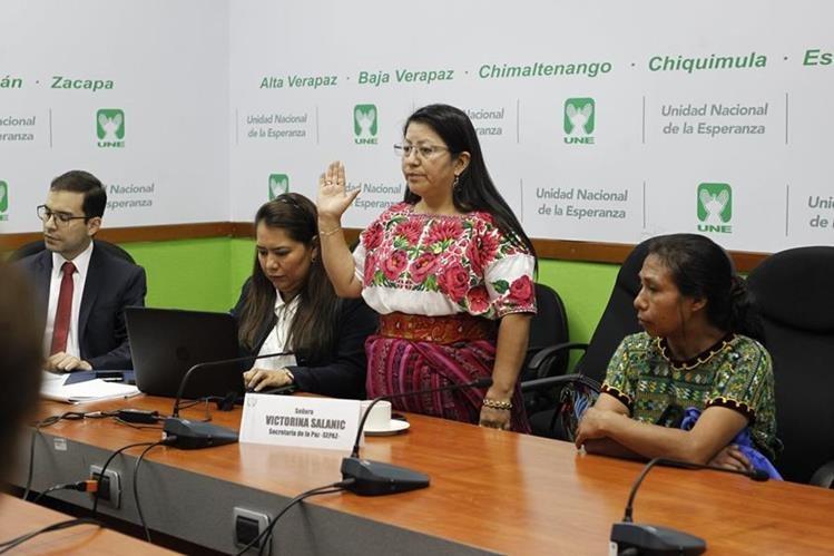 Victorina Salanic fue destituida como secretaria de la Paz por orden del Presidente Jimmy Morales. (Foto Prensa Libre: Hemeroteca PL)