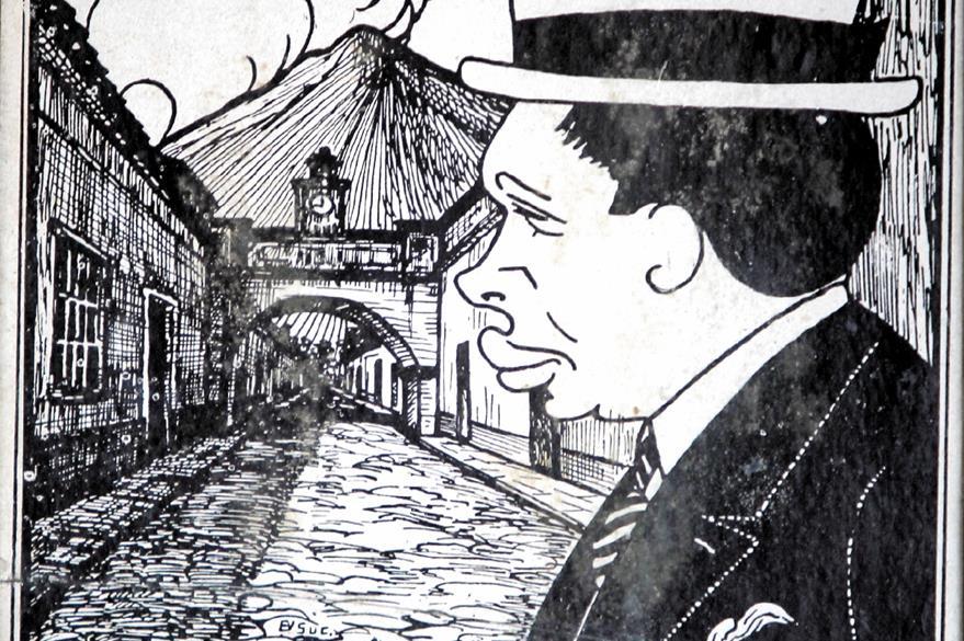 Brañas en la caricatura de Óscar González Goyri.
