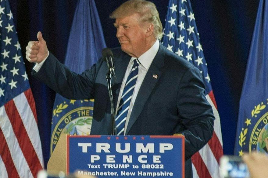 Durante un acto en New Hampshire, Donald Trump, mostró satisfacción por la reapertura del caso. (Foto Prensa Libre: AFP).