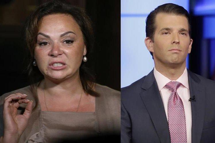Trump Jr.(i) hijo mayor de Donald Trump tuvo una reunión con Natalia Veselnitskaya, abogada rusa durante la campaña presidencial del 2016.