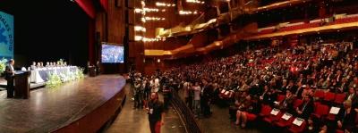 Convocatoria a elecciones 2015 de parte del Tribunal Supremo Electoral en el Teatro Nacional Miguel Ángel Asturias.