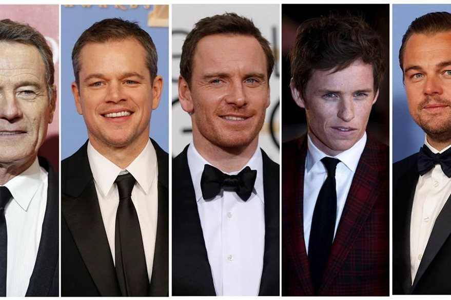 Bryan Cranston, Matt Damon, Michael Fassbender, Eddie Redmayne y Leonardo DiCaprio. (Foto Prensa Libre: Hemeroteca PL)