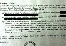 Documentos a los que tuvo acceso Prensa Libre mostraban incongruencias en los datos de beneficiarios, además los dictámenes emitidos. (Foto Prensa Libre: Henry Pocasangre)