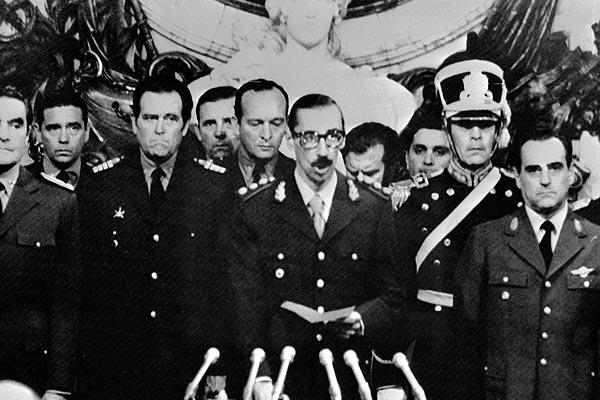 Máximos jerarcas de la dictadura argentina (1976-19839.(EFE).