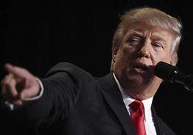"""Trump advierte a Irán de que """"está jugando con fuego"""", en referencia al lanzamiento de misiles.(EFE)."""