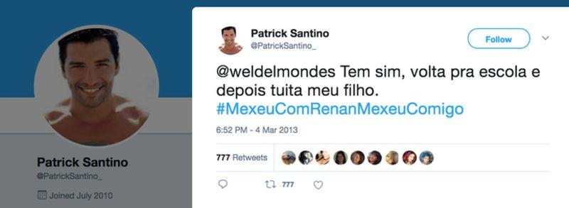 Esta cuenta falsa usaba la imagen de un actor griego como foto de perfil. (Imagen: Twitter).