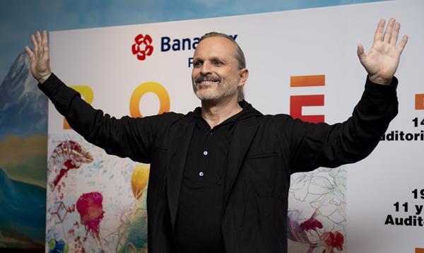 El cantante español Miguel Bosé realizará una gira en varias ciudades de México. (Foto Prensa Libre: AFP)