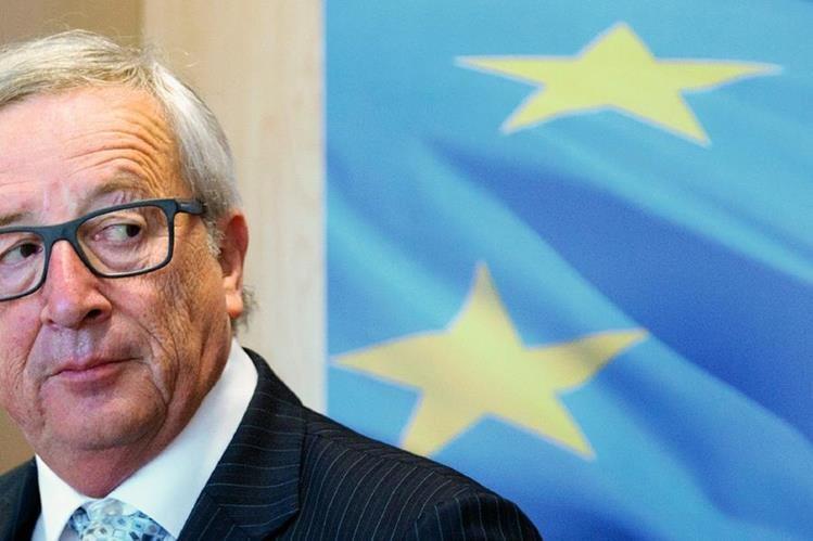 El presidente de la Comisión Europea, Jean Claude Juncker, durante las deliberaciones sobre Grecia en Bruselas.