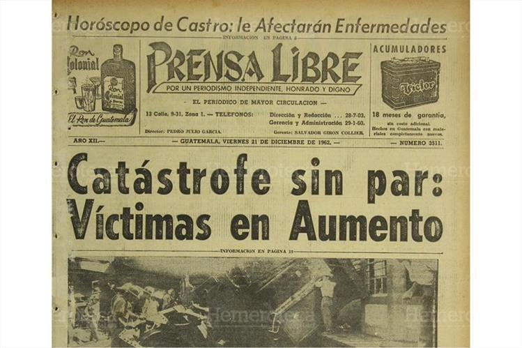 20/12/1962 Accidente ferroviario deja 22 muertos en Escuintla. (Foto: Hemeroteca PL)