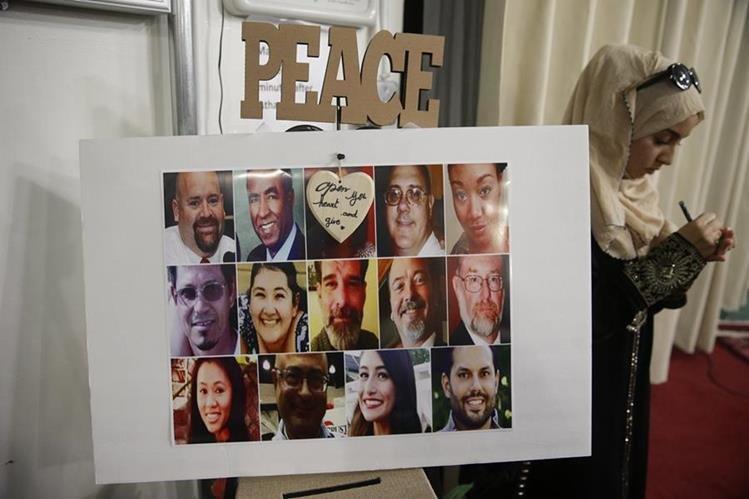 Fotografías de las 14 víctimas de la matanza de San Bernardino. (Foto Prensa Libre: AP).