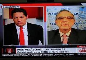 El jefe de la Cicig Iván Velásquez en entrevista con Fernando Del Rincón de CNN.(Foto Prensa Libre: Esbin García)