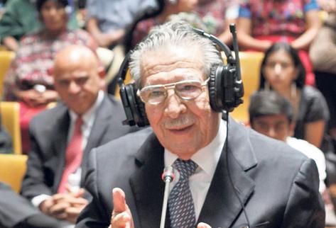 El general Efraín Ríos Montt declaró ante el tribunal el 9 de mayo del 2013 su versión de los hechos ocurridos en Quiché.
