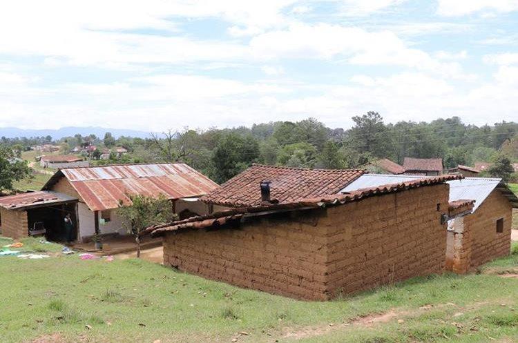Casa de Sandra en la aldea Xatinap Cuarto. Foto Prensa Libre: Héctor Cordero.