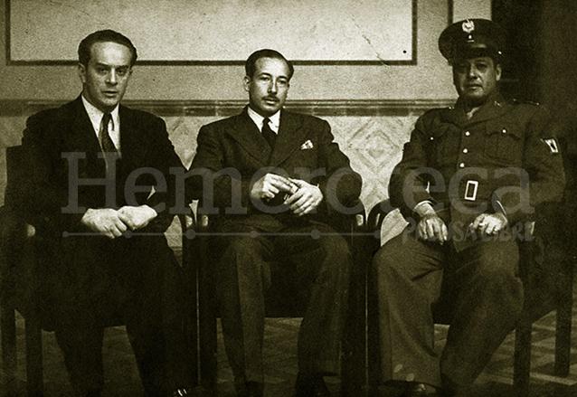 Los miembros de la Junta Revolucionaria de Gobierno de 1944. Jacobo Árbenz, Jorge Toriello y Francisco Javier Arana. (Foto: Hemeroteca PL)
