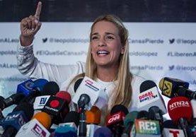 Lilian Tintori, esposa del opositor venezolano encarcelado Leopoldo López.
