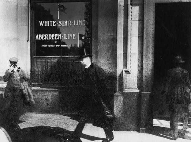 La compañía naviera White Star Line era la dueña del Titanic y del Britannic, otro barco que se hundió en el mar Egeo, en 1916. GETTY IMAGES