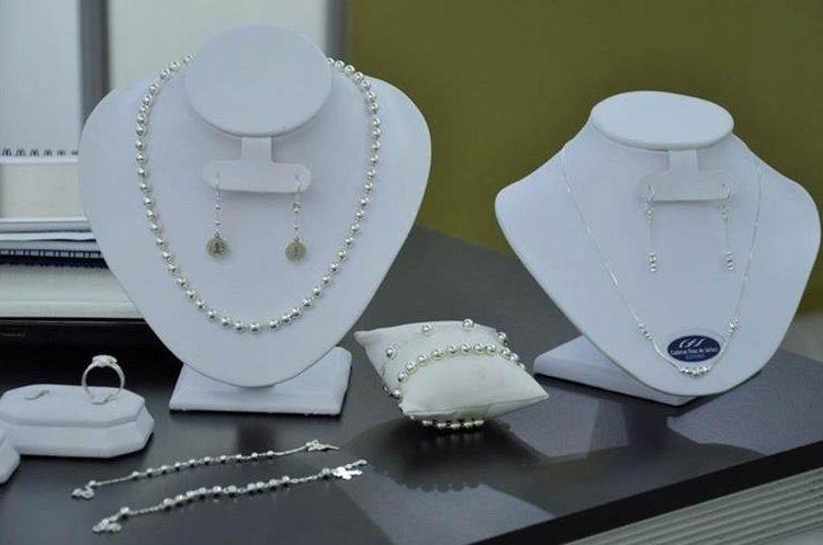 Ejemplo de la joyería mexicana que se exhibió durante la visita de los empresarios en Guatemala. (Foto Prensa Libre: Cortesía)