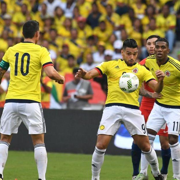 James Rodríguez y Radamel Falcao son los líderes con los que Colombia buscará la sorpresa en San Juan. (Getty)
