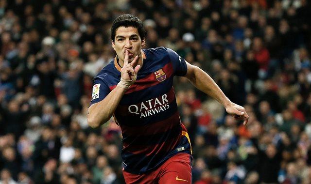 Luis Suárez marcó doblete para la victoria del Barcelona. (Foto Prensa Libre: EFE)