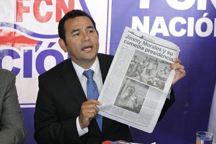 Jimmy Morales ha recibido críticas por su poca capacidad como estadista para gobernar.