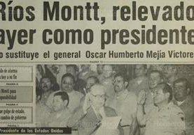 Juramentan a Mejía Víctores como jefe de Estado de Guatemala. (Foto: Hemeroteca PL)