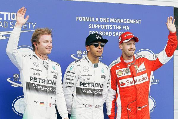 Hamilton volvió a brillar en la F1 y consiguió una nueva pole. (Foto Prensa Libre: EFE)