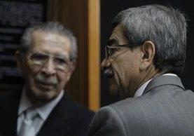FotografÌa del 10 de mayo de 2013 Ríos Montt durante su asistencia a una audiencia en la Corte Suprema de Justicia. (Foto Prensa Libre: Hemeroteca PL)