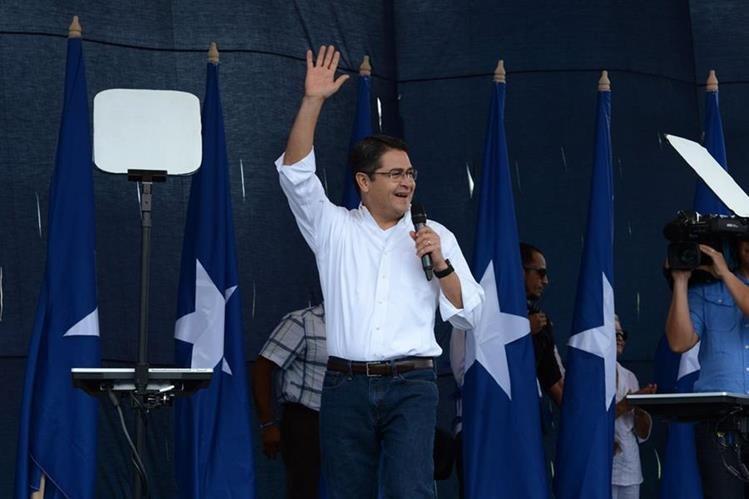 Juan Orlando Hernández, presidente de Honduras. (Foto Prensa Libre: AFP)