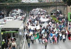 Codeca anunció movilizaciones en la capital para el próximo 7 de marzo. (Foto Prensa Libre: Hemeroteca PL)